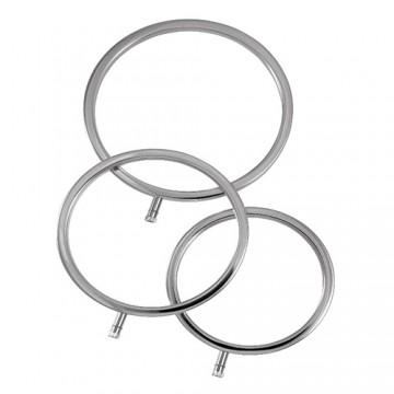 ElectraStim Sold Metal ElectraScrotal Ring Set