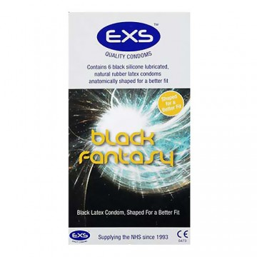 EXS Black Fantasy Condoms (6 Pack)