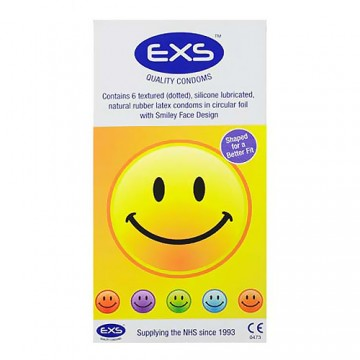 EXS Smiley Textured Condoms (6 Pack)
